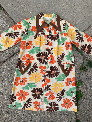 1930's Cotton Floral Smock