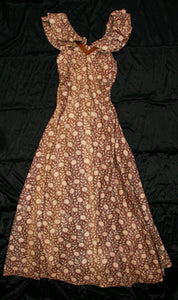 Vintage 1930's Polished Cotton Daisy Gown