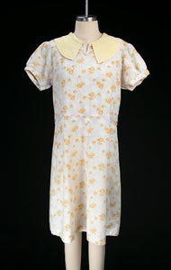 Vintage 1930's Depression Era Feedsack Dress