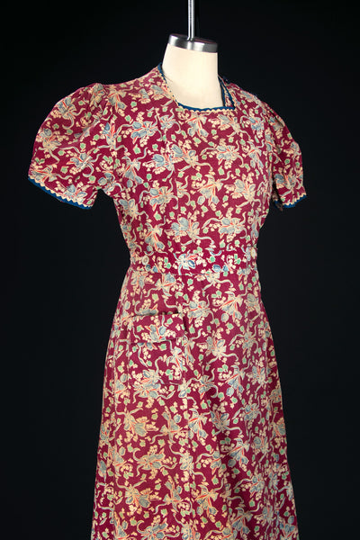 Vintage 1930's Feed Sack Depression Era Cotton Dress
