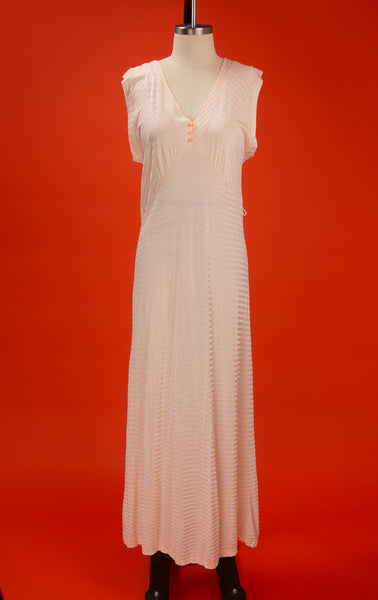 Vintage 1930's Blush Pink Jersey Nighty