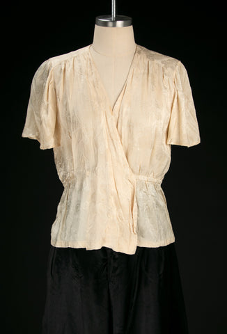 Vintage 1930's - 40's Silk Dragon Blouse