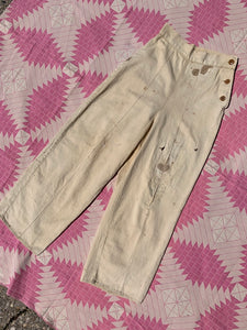 1930's Beige Cotton Pants