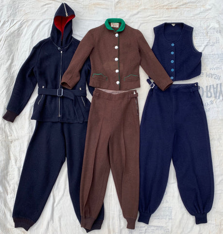 1930's Wool Snowsuits