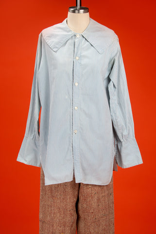 Antique Pinstriped Cotton Button Up