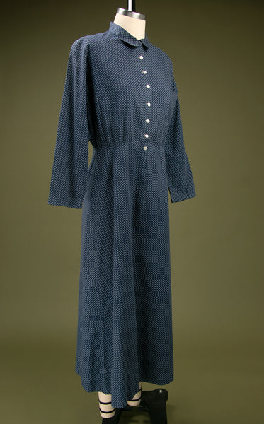 Antique Blue Calico Dress