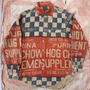 1930's Hog Chow Button Up