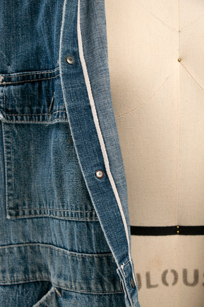 Vintage 1930's National Recovery Act Denim Coveralls with Selvedge