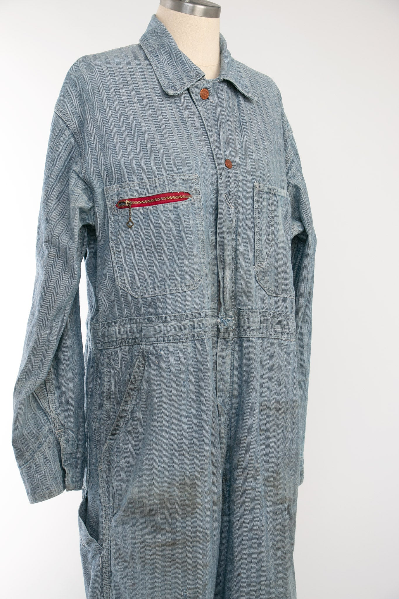 Vintage Hickory Striped Rail Chief Coveralls