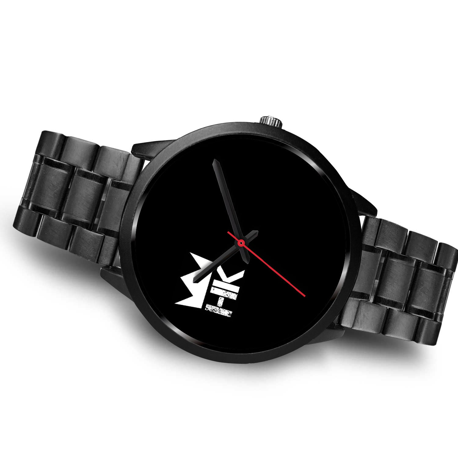 The H & K Crown 10:00 Black Face Time Piece