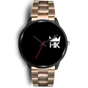 The H & K Crown 3:00 Black Face Time Piece