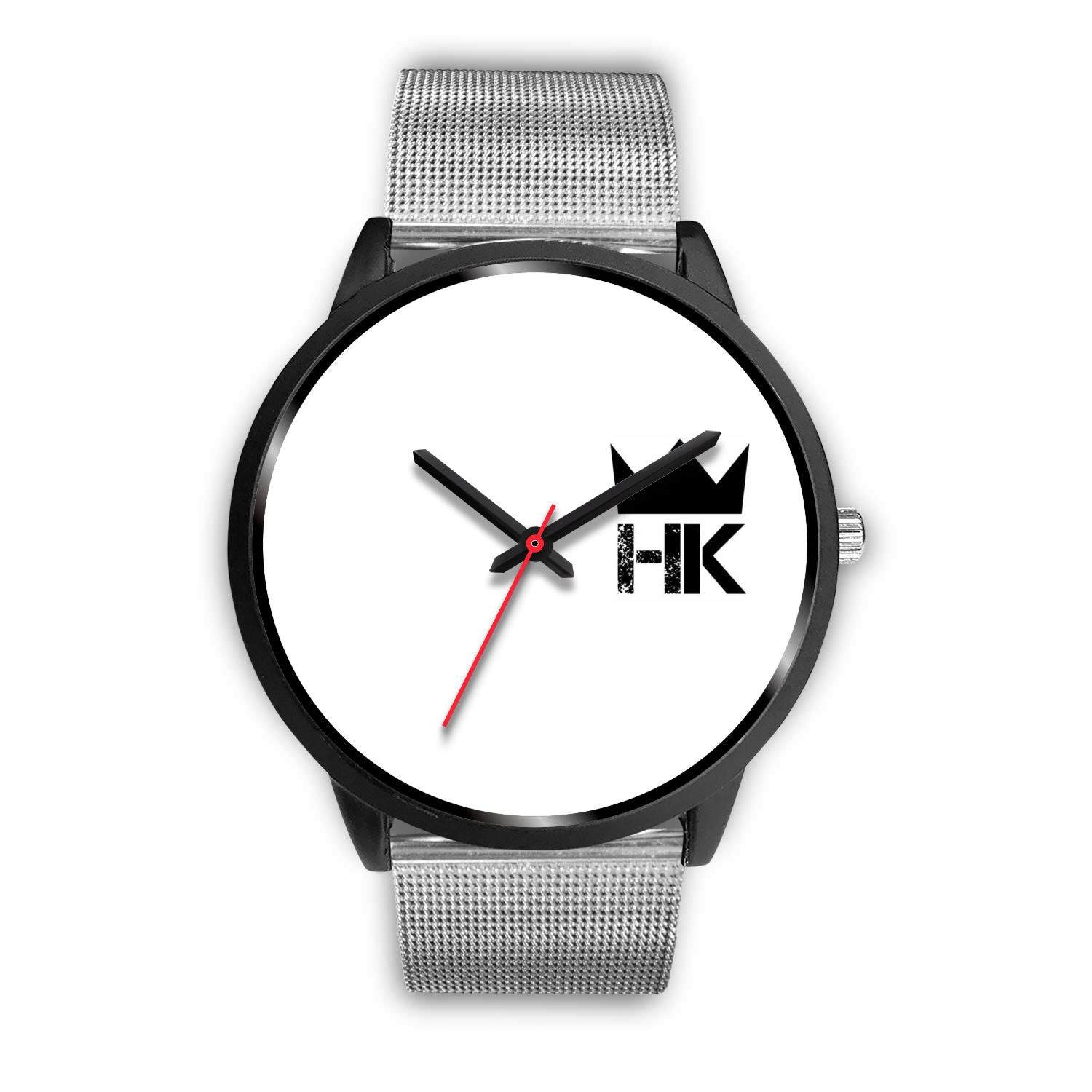 The H & K Crown 3:00 White Face Time Piece