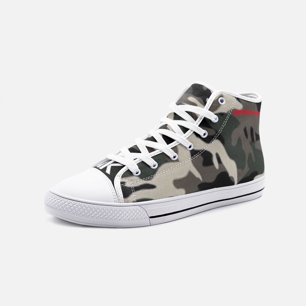 H & K Camo Lion High Top Canvas Shoes