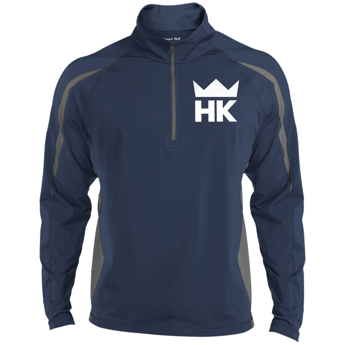 Heroes & Kingz Men's Sport Wicking Colorblock 1/2 Zip