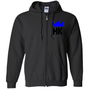 H & K Royal Crrown Zip Up Hooded Sweatshirt