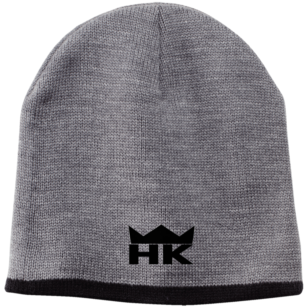 H & K Black Crown Beanie
