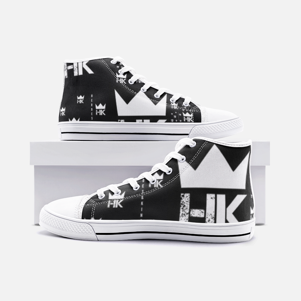 H & K 13 Crown High Top Canvas Shoes