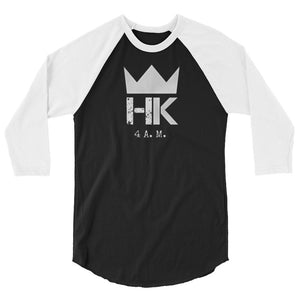Heroes & Kingz 4:00 am Crown Inverted 3/4 sleeve shirt