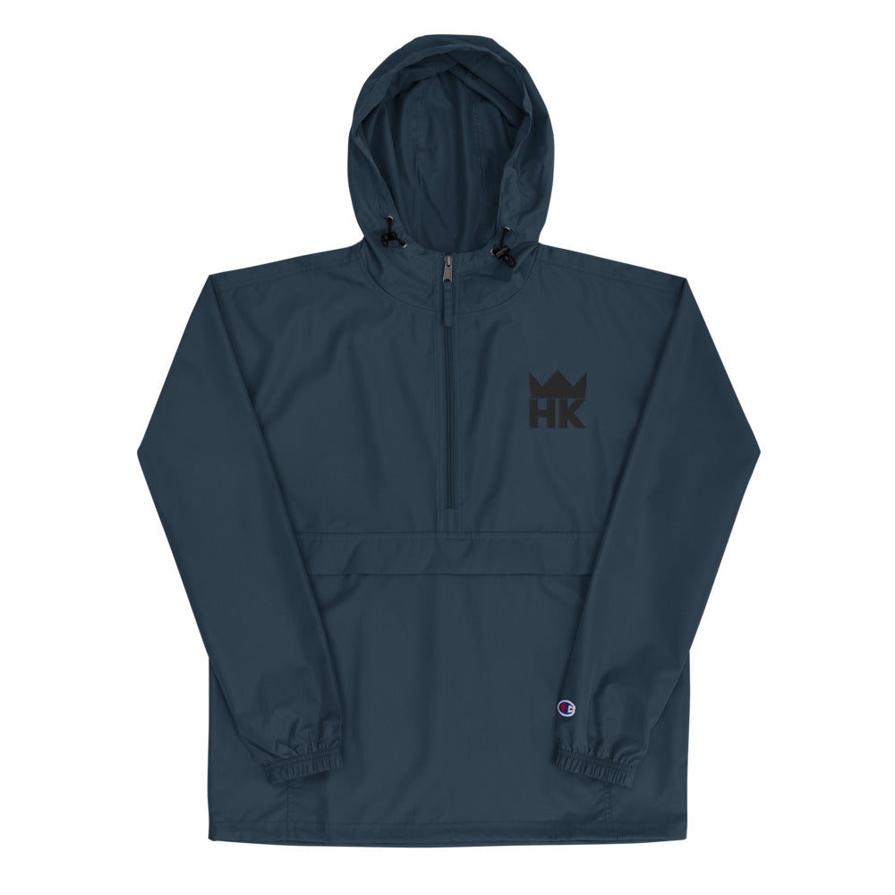 H & K Crown Embroidered Packable Jacket