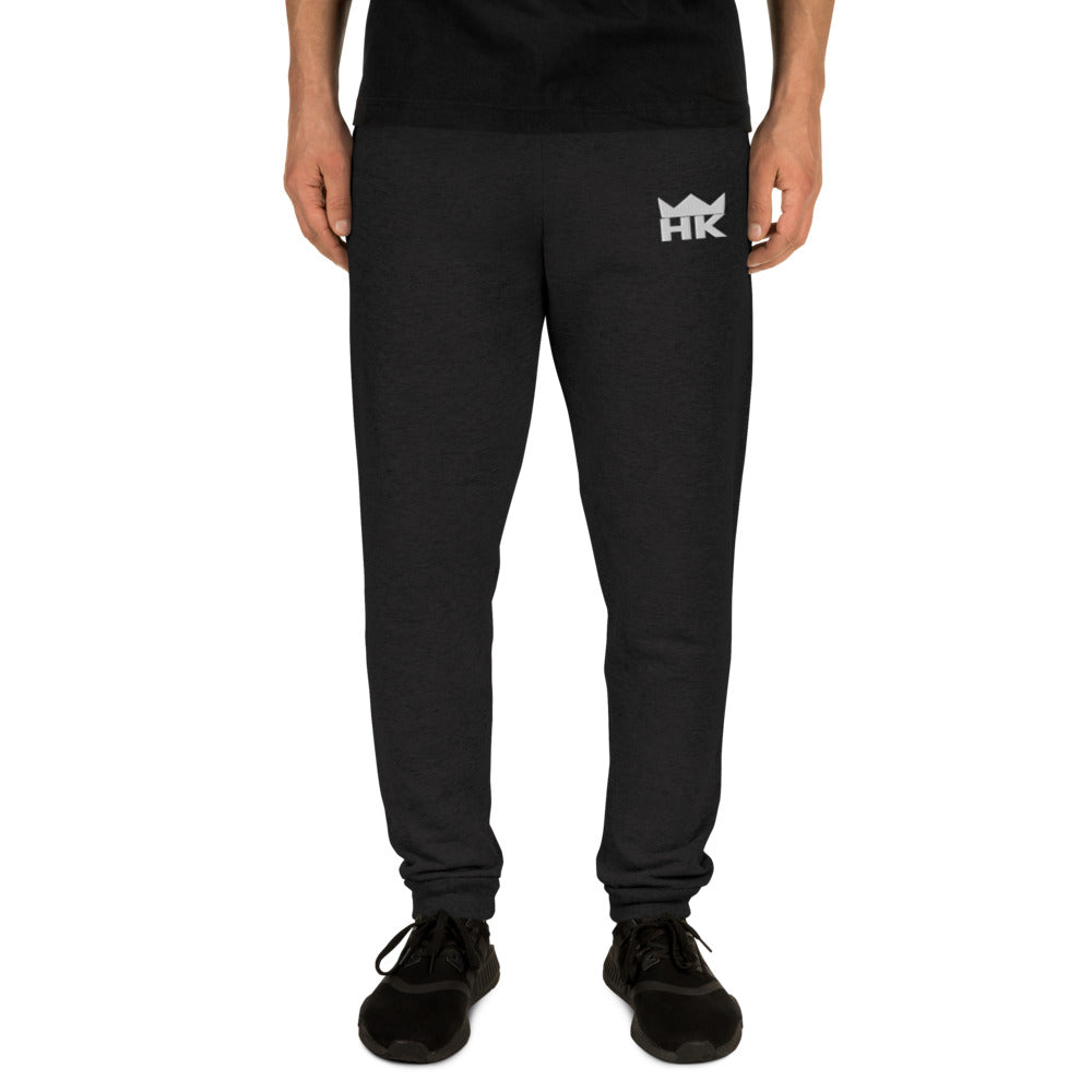 H & K Embroidered Crown Joggers