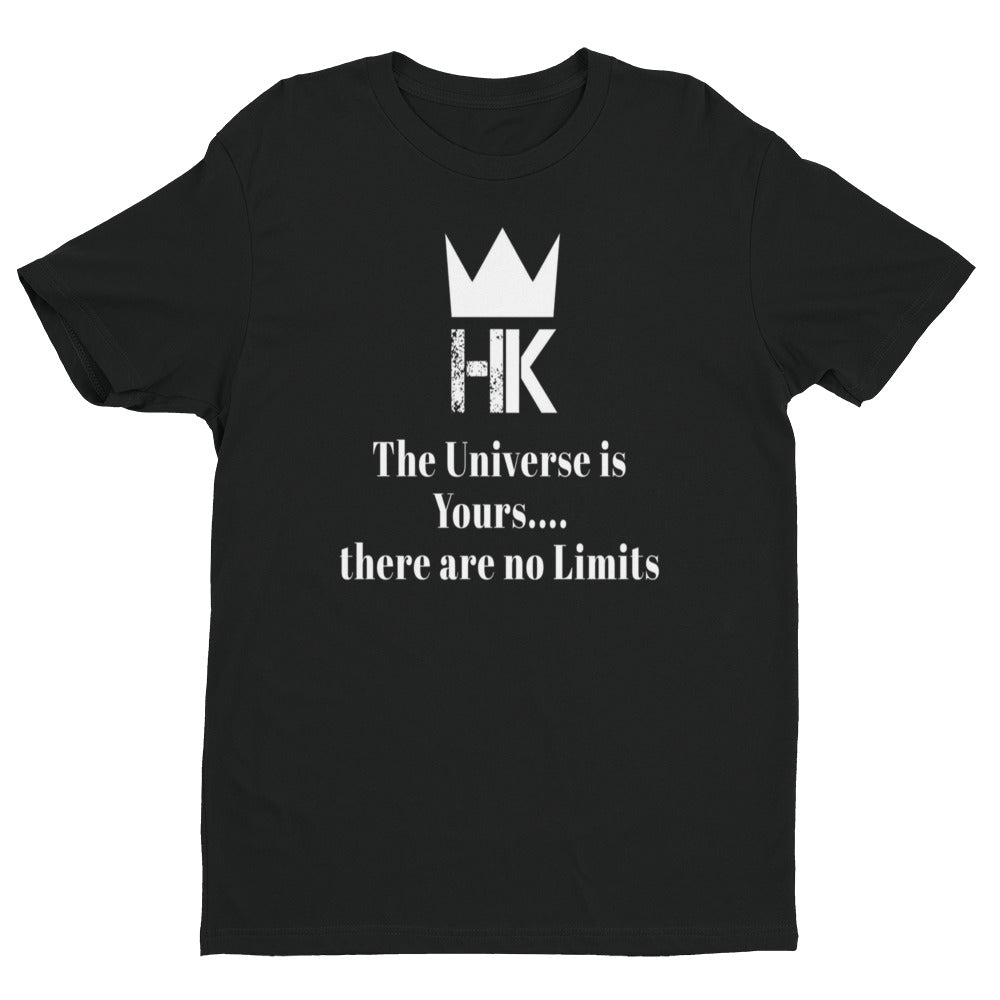 H & K Universe Fitted Short Sleeve  T- Shirt with Tear Away Label