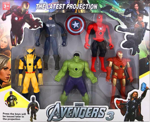Avengers Figures with Surprise Light Projection