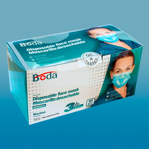 Boda Disposable Face Mask<br>一次性防护口罩<br>YiCiXingGangHuKouZhao