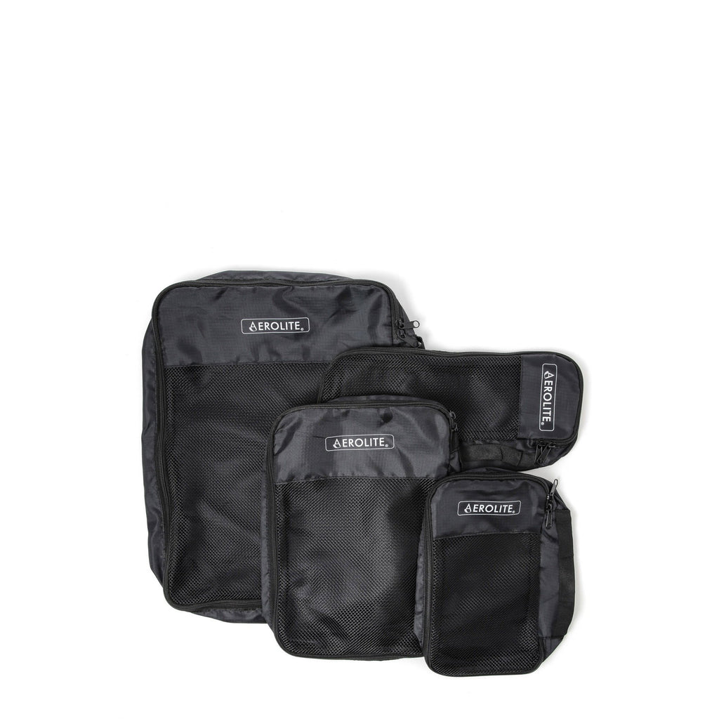 Aerolite Luggage Packing Cubes Travel Organiser 4 Piece Set