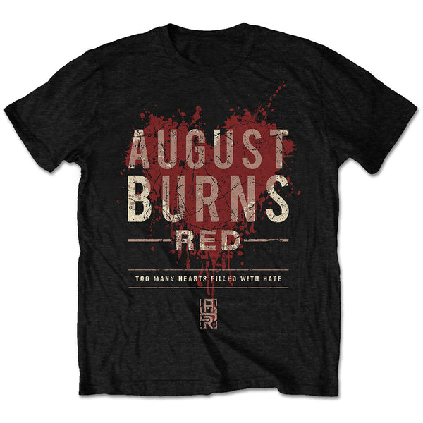 August Burns Red Mens Licensed Official T-Shirt: Hearts Filled