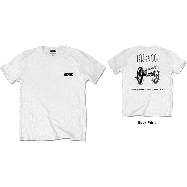 AC/DC Mens Officially Licenced T-Shirt: About To Rock (Back Print/Retail Pack)