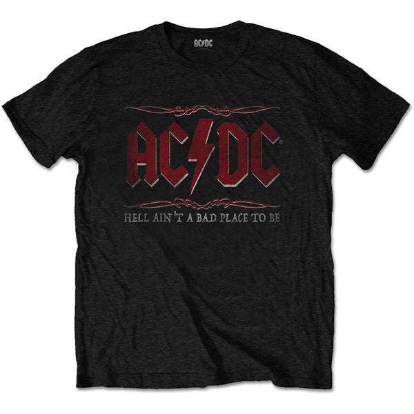 AC/DC Mens Officially Licenced T-Shirt: Hell Ain't A Bad Place
