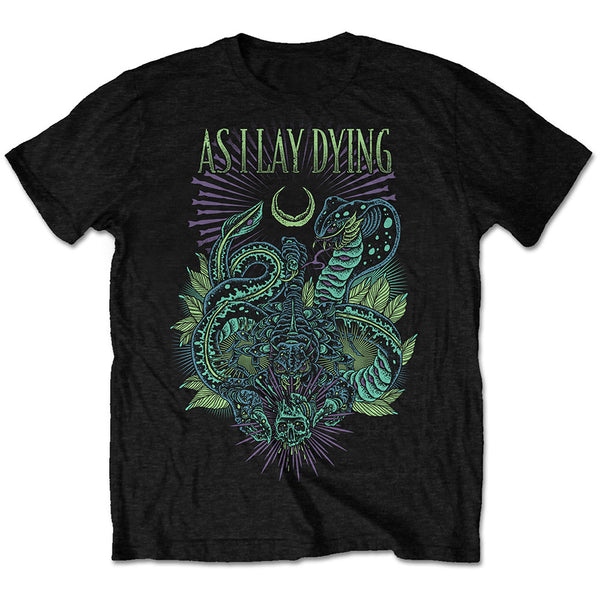 As I Lay Dying Mens Licensed Official T-Shirt: Cobra (Retail Pack)