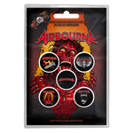 Airbourne Button Badge Pack: Breakin' Outta Hell