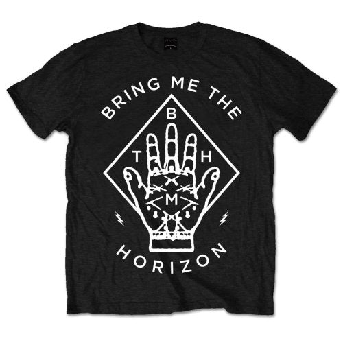 Bring Me The Horizon Mens Officially Licenced T-Shirt: Diamond Hand