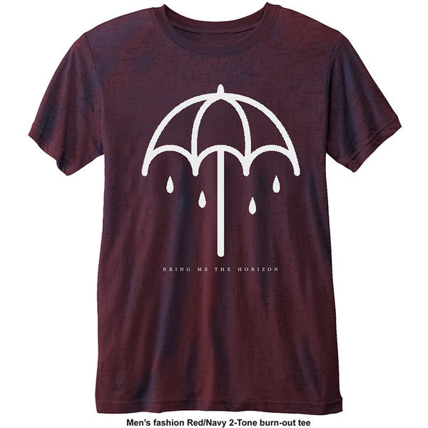 Bring Me The Horizon Mens Licensed Official Fashion T-Shirt: Umbrella with Burn Out Finishing