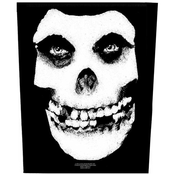Misfits Back Patch: Face Skull