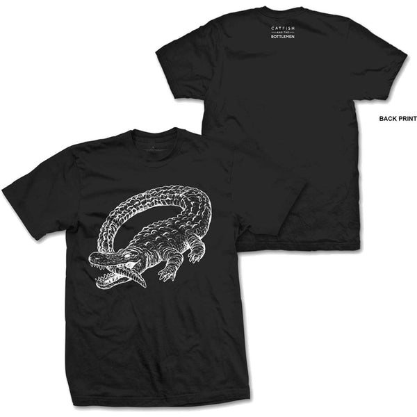 Catfish And The Bottlemen Mens Licensed Official T-Shirt: Alligator (Back Print)