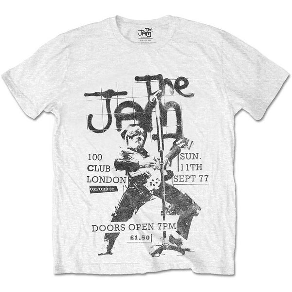 The Jam Mens Licensed Official T-Shirt: 100 Club 77