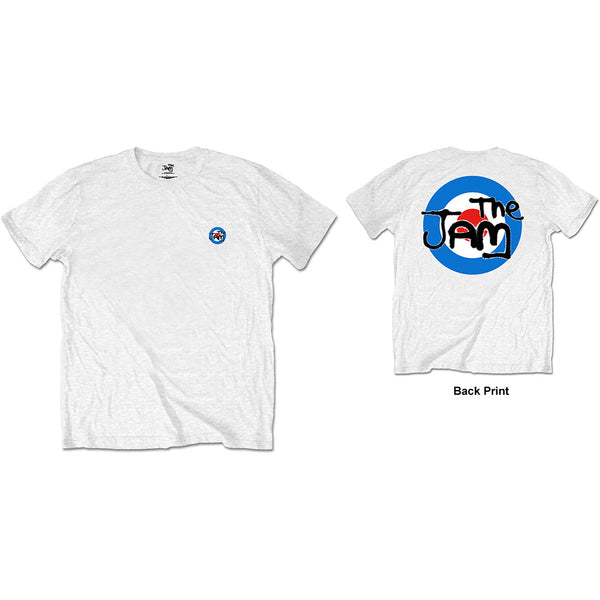 The Jam Mens Officially Licenced T-Shirt: Target Logo (Back Print/Retail Pack)