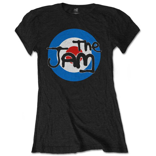 The Jam Ladies Officially Licenced T-Shirt: Spray Target Logo (Soft Hand Inks)