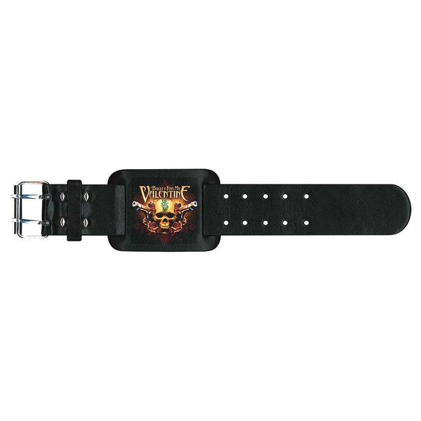 Bullet For My Valentine Leather Wrist Strap: Two Pistols