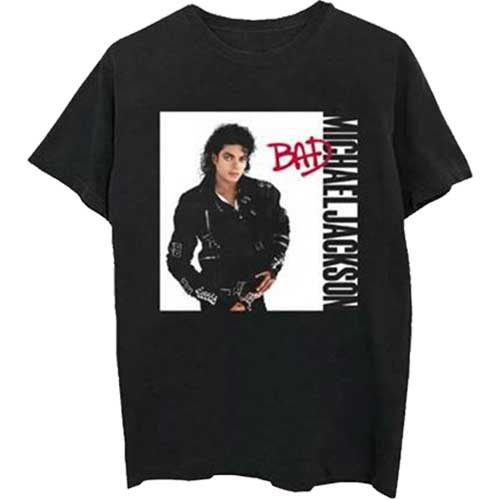 Michael Jackson Mens Officially Licenced T-Shirt: Bad