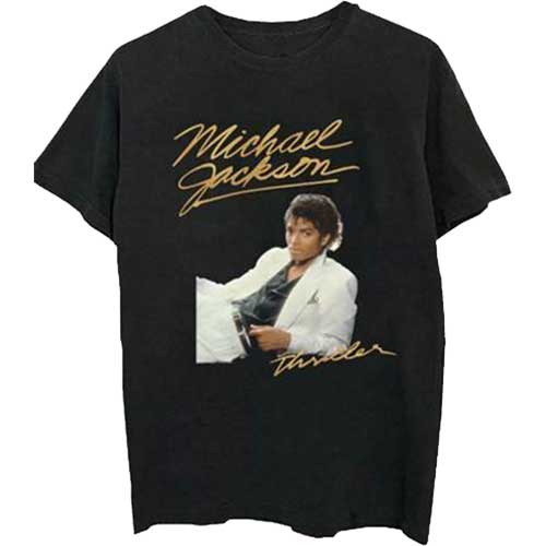 Michael Jackson Mens Officially Licenced T-Shirt: Thriller White Suit
