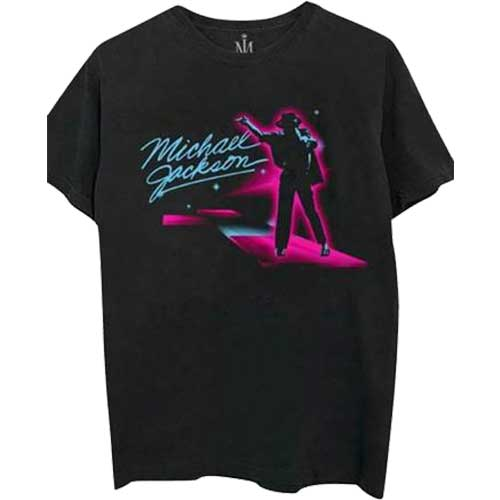 Michael Jackson Mens Officially Licenced T-Shirt: Neon
