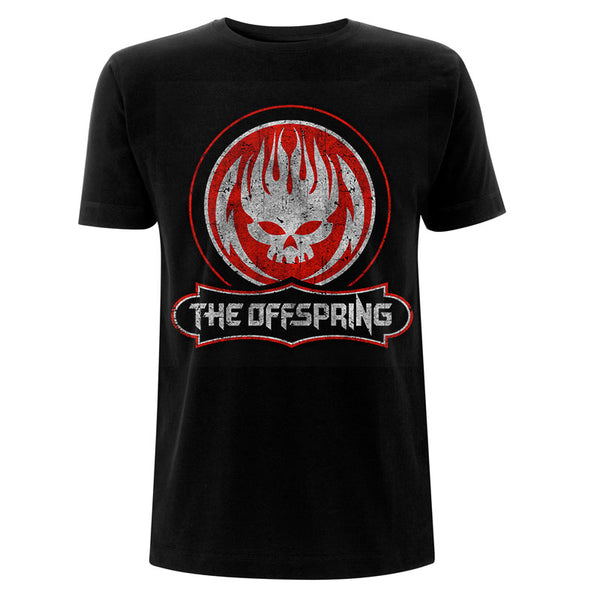 The Offspring Mens Officially Licenced T-Shirt: Distressed Skull