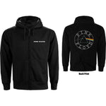 Pink Floyd Mens Officially Licenced Zipped Hoodie: Circle Logo (Back Print)