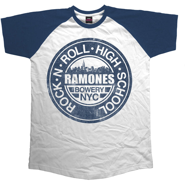 Ramones Mens Licensed Official Raglan T-Shirt: Bowery NYC