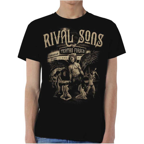 Rival Sons Mens Officially Licenced T-Shirt: Teatro Fiasco