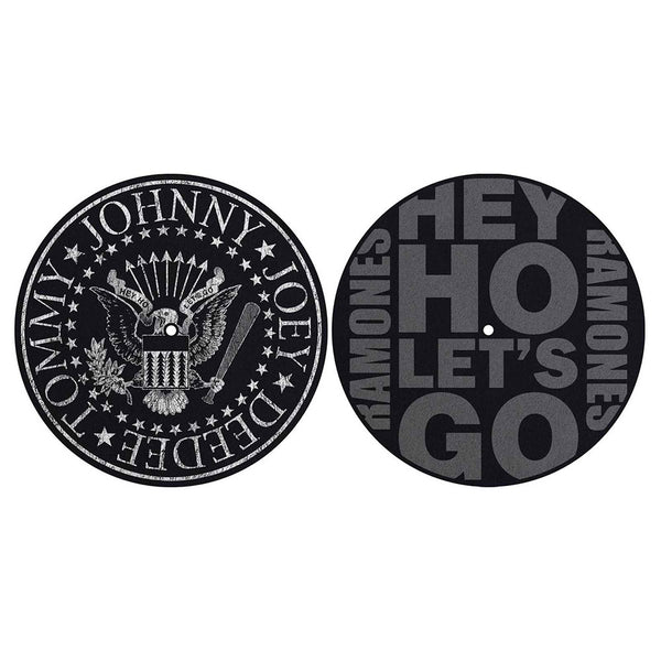 Ramones Turntable Slipmat Set: Classic Seal / Hey Ho