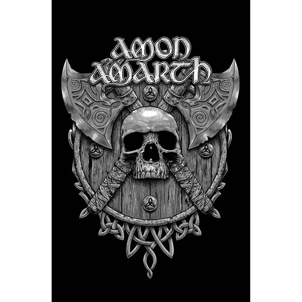 Amon Amarth Textile Poster: Skull And Axes